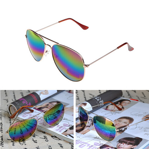 High Fashion Reflective Sunglasses Polarized Gafas De Sol Polarizadas Silver Metal Frame Colorful Sunglasses Vintage(China (Mainland))