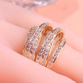 6pcs one lot wholesale price Women Wedding Rings Best Bridal Jewelry 18K Real Gold Plated Anel