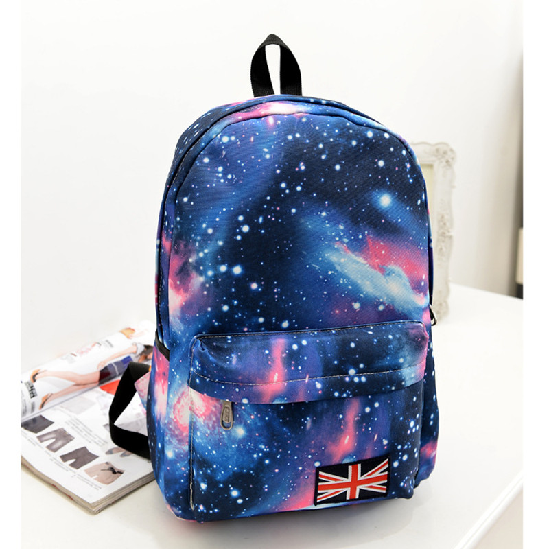 Free Shipping Fashion School Bags For Teenagers Stars Universe Space Printing Backpack School Book Backpacks F116(China (Mainland))