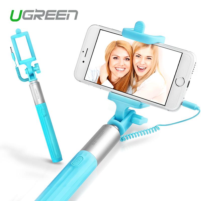 Ugreen Universal Selfi Stick Wired Extendable Handheld Monopod Tripod Holder for Samsung Galaxy iPhone 6 6s 6s plus Palo Selfie