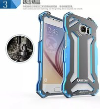 R-Just S6 Metal Aluminum Case for Samsung Galaxy S6 Shock Proof Outdoors Climbing Running Aviation GUNDAM SJ0853