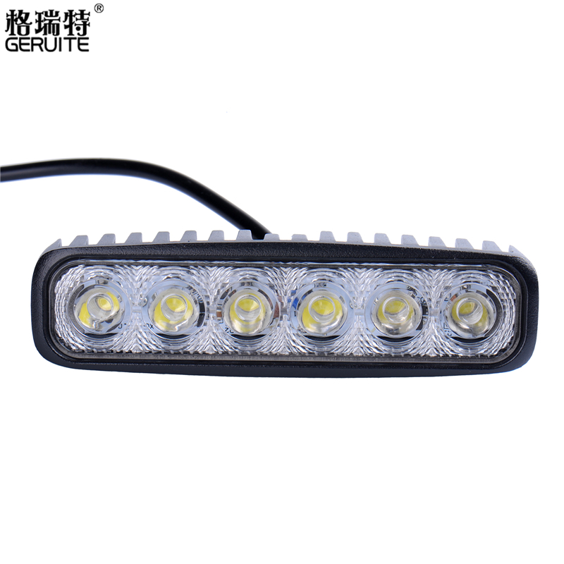 2 Pieces 1800 LM Mini 6 Inch 18W 6 x 3W Car CREE LED Light Bar as Work light Flood Light Spot Light for Boating Fishing Hunting(China (Mainland))