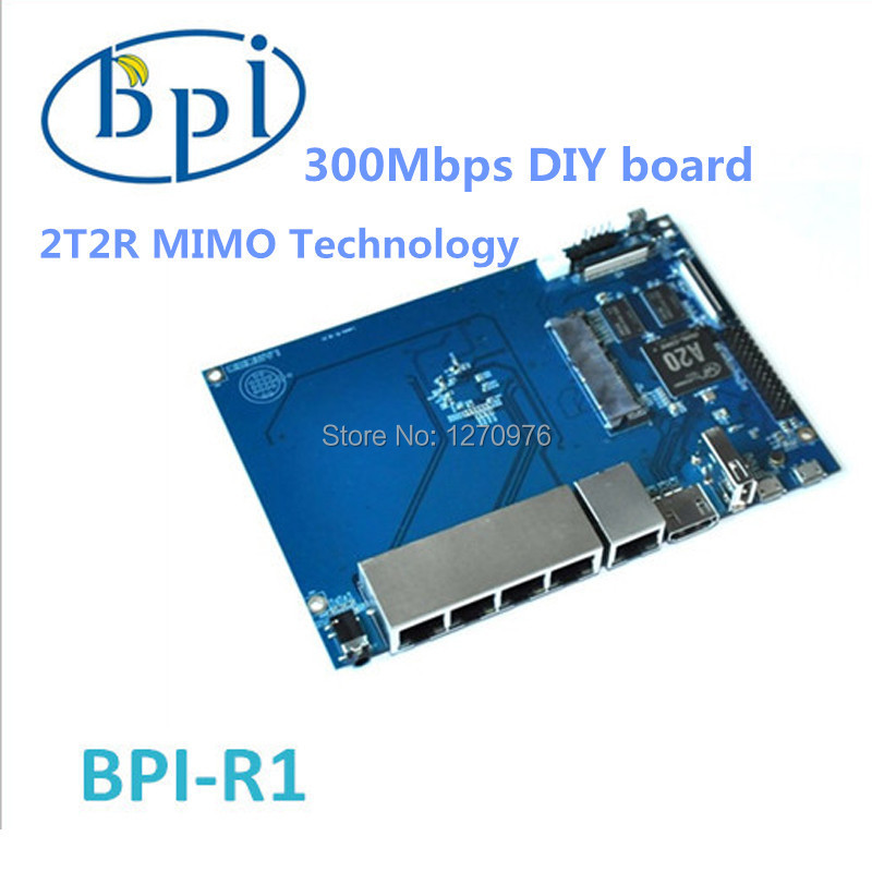 Smart BPI- R1 banana pi R1 board 300Mbps Wireless N Router A20 ARM7Dual Core 1GB DDR OS Android 4.2 Linux Free shipping(China (Mainland))