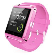 Спорт U8 bluetooth-смарт наручные часы телефон помощник высотомер для Android и IOS iPhone смартфон розовый Smartwatch