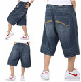 2015 Summer Hip Hop Harem Baggy Pants Men Denim Jeans Shorts Skate Jeans Shorts for Men