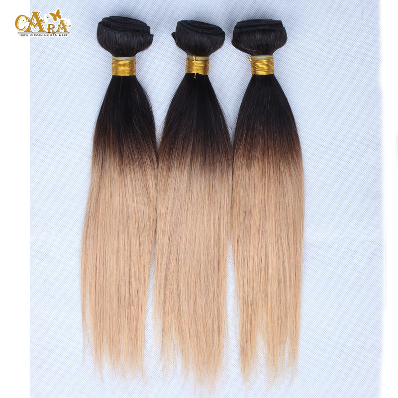 10-26inch ombre hair extensions straight malaysian virgin hair weave 3pcs lot two tone 1b/27 blonde 5A malaysian straight hair<br><br>Aliexpress