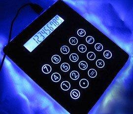 Freeshipping 1pcs/lot 4 port USB HUB Mousepad calculator for PC Laptop Novelty gift