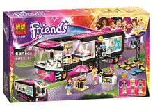 2016 New Friends series Pop Star Tour Bus model building blocks 684pcs bricks assembling toy gift 10407 Compatible With Legoe(China (Mainland))