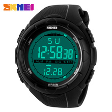 SKMEI Brand Men Sports Watches LED Digital Watch Fashion Outdoor Waterproof Military Men's Wristwatches Relogios Masculinos 2016