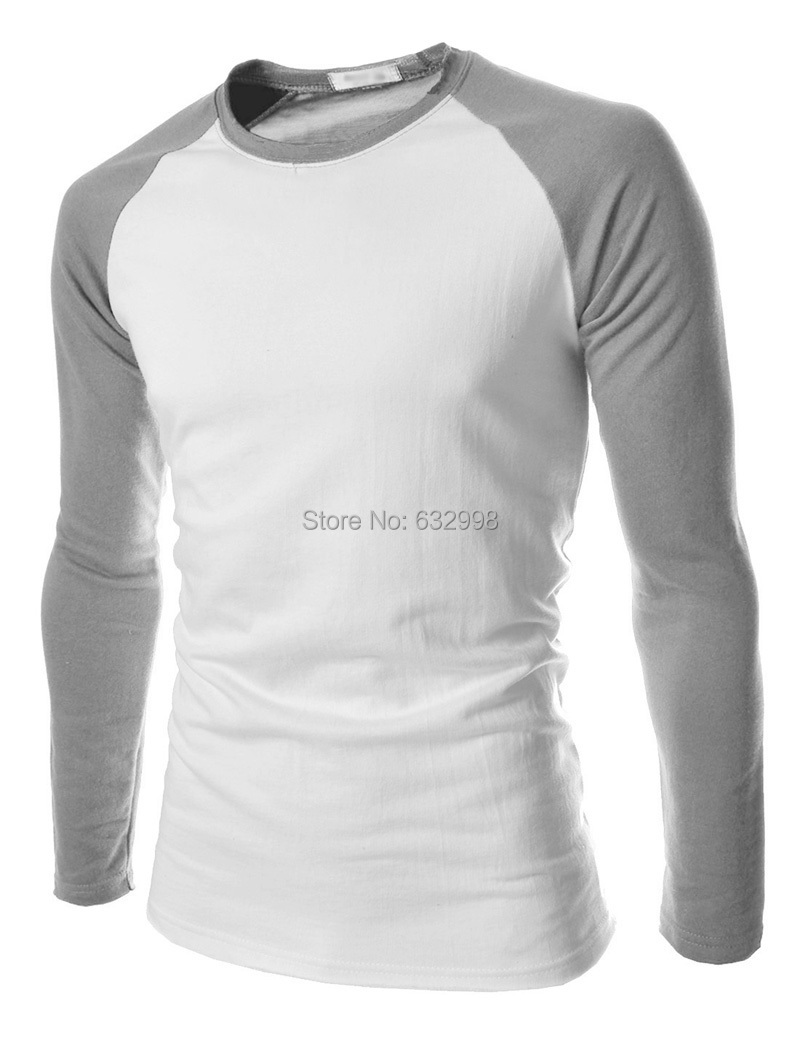 New 2015 listing men t shirt fashion spell color british Mens long sleeve white t shirt