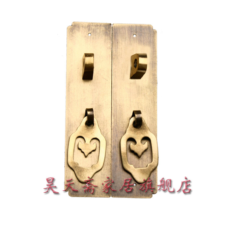 [Haotian] Haotian vegetarian fast straight handle copper / Ming and Qing antique furniture, copper fittings HTC-063<br><br>Aliexpress