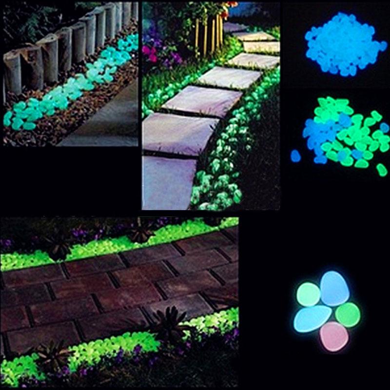 Artificial luminous light emitting pebbles stones gravel for Glow in the dark fish tank