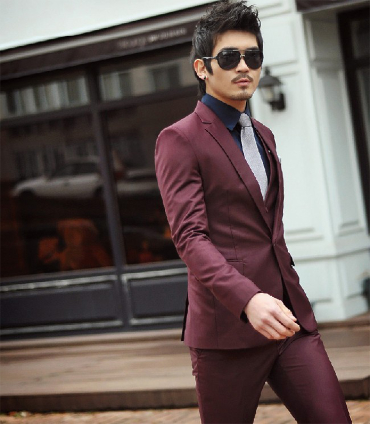 71-Free Shipping New 2015 man suit classic Fashion grooms man suits! Men's Blazer Business Slim Clothing Suit And Pants