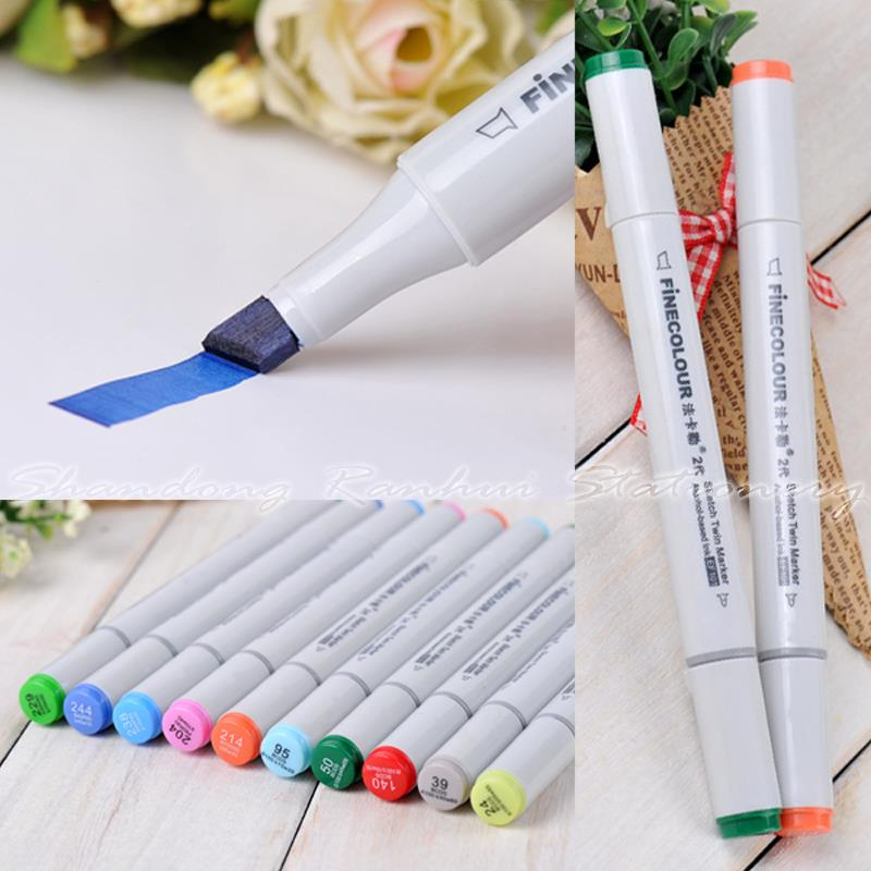 36/48/60/72 P Colors Interior Design Marker Pen Finecolour-Two commonly used Sketch marker copic markers(China (Mainland))