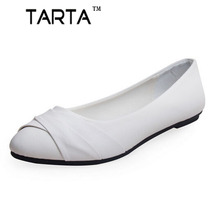 2016 spring women famale shoes Black White Color women shoes pointed flat with nurse shoes casual work shoes plus size pdx-02