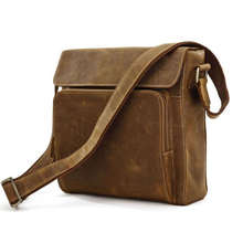 Discount JMD Fashion Crazy Horse Leather Men Messenger Bags Shoulder Bags For Mens Supernova Sale Free Shipping #7051B-1(China (Mainland))