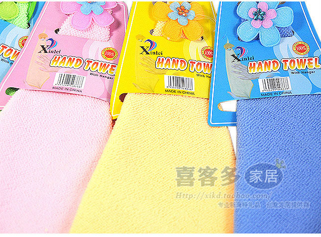 Free shipping! 12pc New Fashion Super Absorbent Microfiber Hand Hair Bath Beach Hand Towel With Hanger Sports Large Washcloth(China (Mainland))