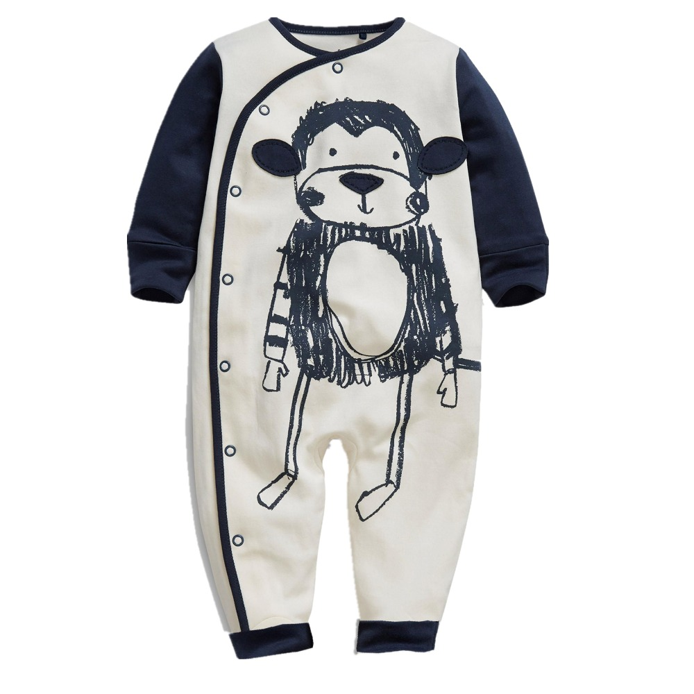 spring summer newborn baby boy clothes baby rompers for girl long sleeve baby pajamas monkey jumpsuit toddler overalls unisex(China (Mainland))