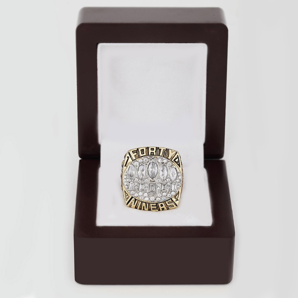 Free shipping NFL 1994 SUPER BOWL XXIX SAN FRANCISCO 49ERS CHAMPIONSHIP RING for Men's Fashion Jewelry for birthday gifts(China (Mainland))