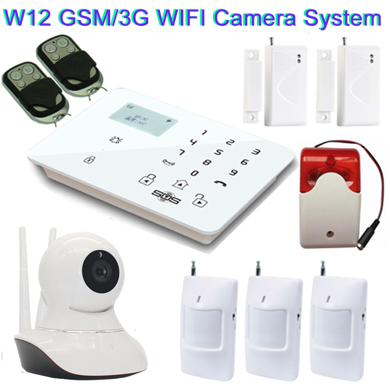 home security camera system gsm 3g ip camera wireless sms camera with gsm alarm system siren. Black Bedroom Furniture Sets. Home Design Ideas