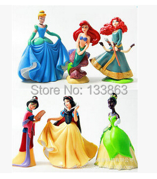 6 pcs/set princess figure, Cinderella toys snow white Figures PVC figures Doll, kids, gifts girls - Magnetic Grace &Retail Store store