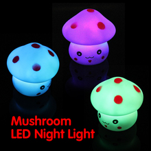 Mushroom Shaped LED Novelty Lamp Night Light Colorful Changing Colors V3NF