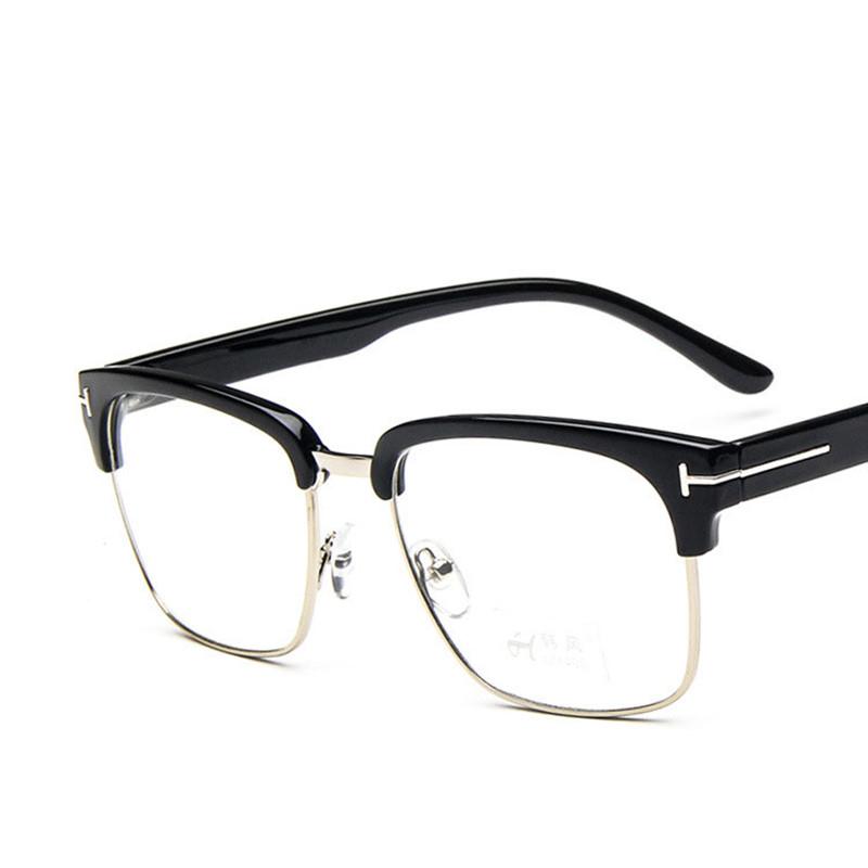 classic square tf glasses frame myopia prescription