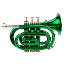 Bach New BB GREEN Pocket Trumpet with Zippered Hard Case(China (Mainland))