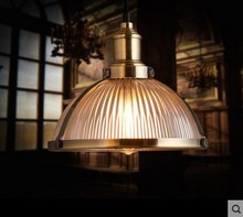 60W Vintage Pendant Light Fixtures Industrial Lamp With Glass Lampshade In Edison Loft Style Pendente De Teto Luz(China (Mainland))