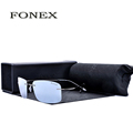 Fonex Rimless Titanium Polarized Sunglass Women Brand Designer Sun Glasses Men s Ultra Light Frame Coating