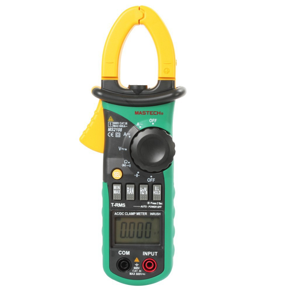 Current Clamp For Multimeter : Mastech ms s true rms digital ac dc current clamp meter