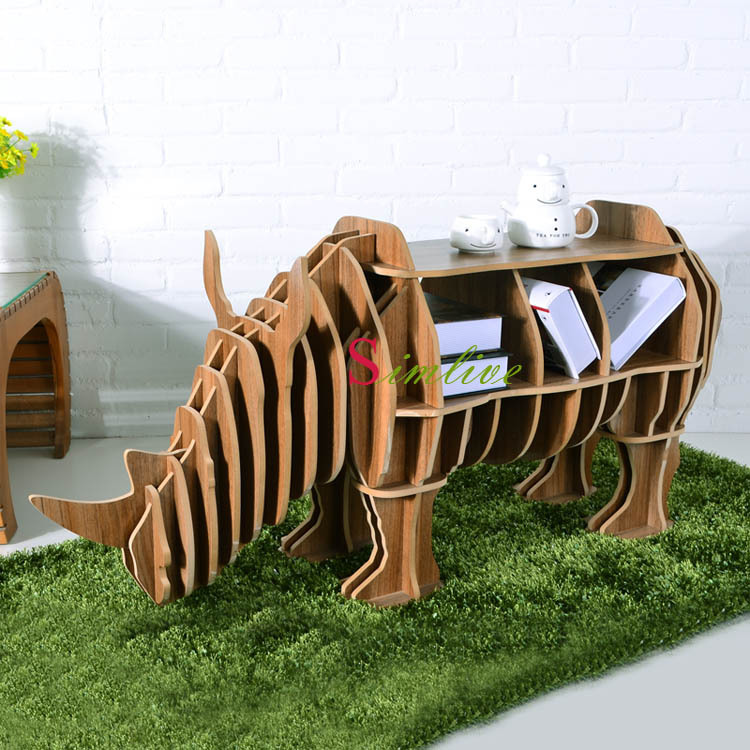 Buy rhino puzzle table for living room for Sala novelty