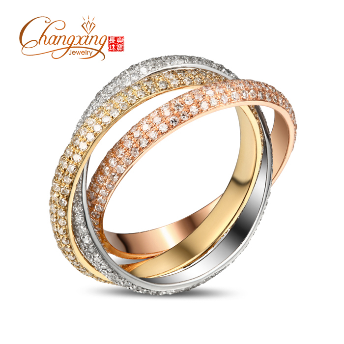 SOLID 14CT THREE BAND GOLD NATURAL DIAMOND ENGAGEMENT WEDDING BAND 2.50CT JEWELRY, FASHION!!<br><br>Aliexpress