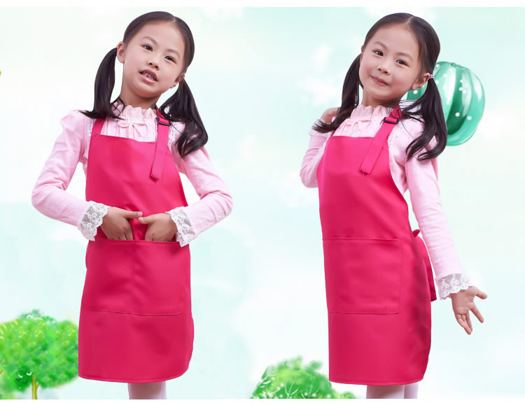 Little Chef Cute Kids Child Children Cooking Baking Tools Kitchen Dining Apron 12 COLORs Aprons(China (Mainland))