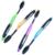 Горячие Моды 4 ШТ. Двухместный Ultra Soft Зубная Щетка Bamboo Уголь Nano Кисть Уход За Полостью Рта 625 Nano-антибактериальная Зубная Щетка Черный глав