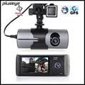 2 7 inch Dual Lens Car DVR GPS Logger 720P Car Camcorder G sensor Dash Cam