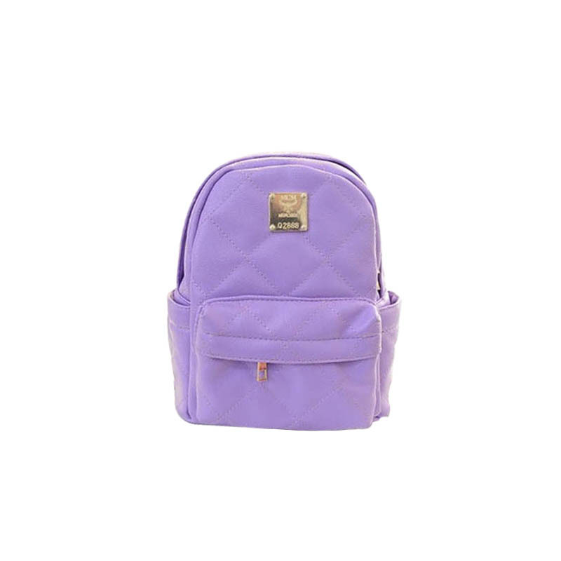 Girls chain backpack Plaid backpack Purple women backpack High Quality PU Plaid And Chains Bag TCB11367 Free Shipping<br><br>Aliexpress