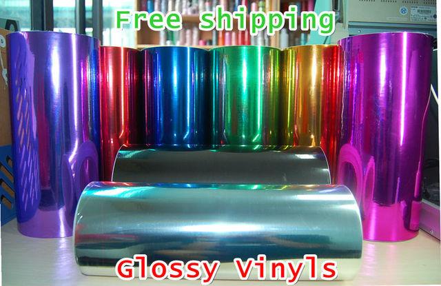 HQ AIR DRAIN 150cm*60cm Glossy Chrome Vinyl Film