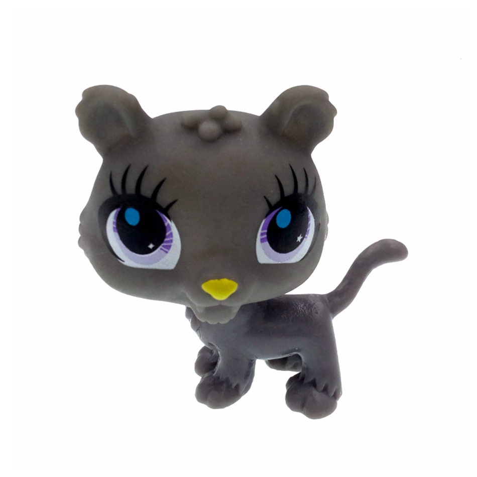 High Quality Children Toy Cartoon Littlest Pet Shop Gray Dog LPS Action Figure Kids Birthday Christmas Gift Brand Classic Toy(China (Mainland))