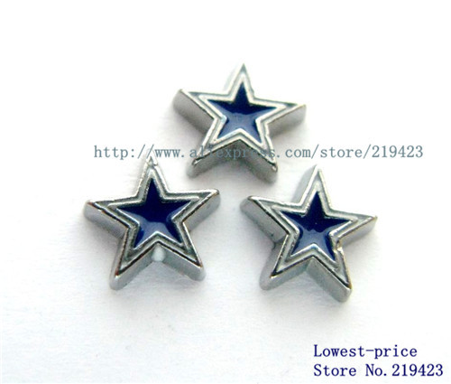 10PCS Football Cowboys Floating locket charms DIY Accessory Fit for floating Locket Free shipping !FC720(China (Mainland))