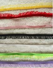 Wholesale lot Multi colors elastic stretch lace trim DIY sewing binding dress doll kids apparel 1.2-1.5cm(China (Mainland))