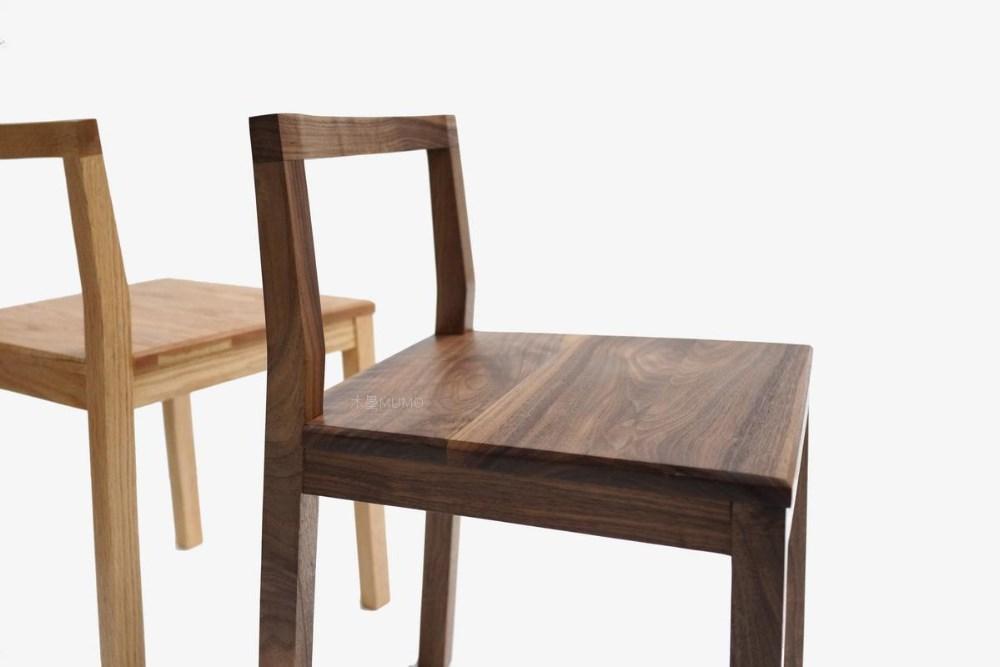 Simple estilo moderno muebles de madera maciza silla for Sillas madera maciza para comedor