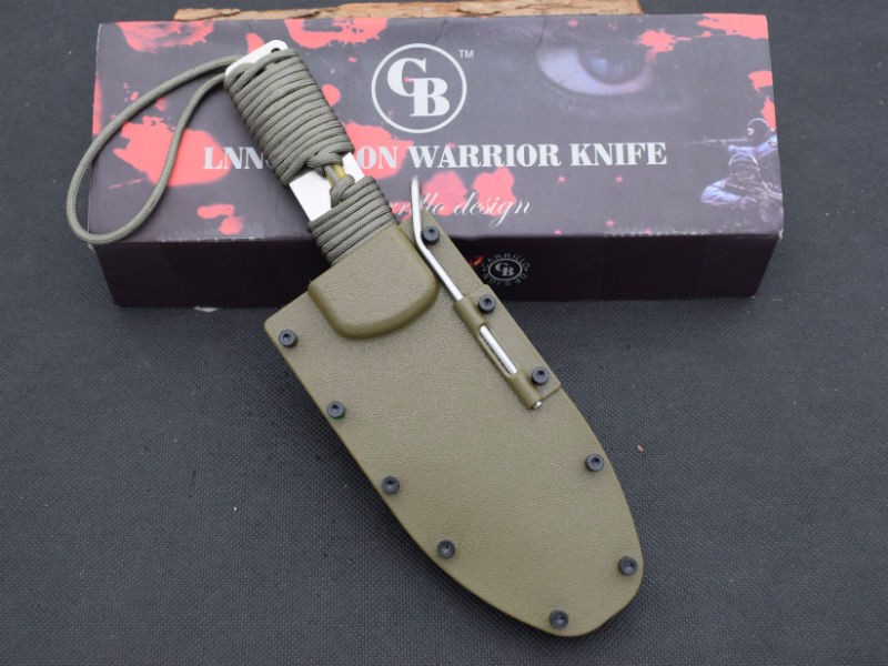 Buy Tactical Knife 58HRC Dwaine Carrillo Fixed 154CM Steel Blade Knife Hunting Survival Knives Camping Outdoor Tools With ABS Sheath cheap