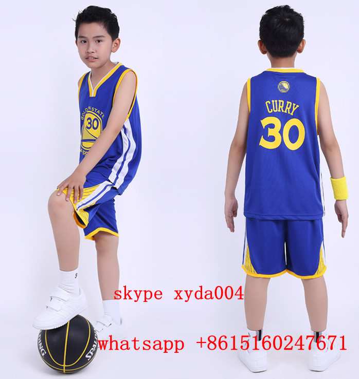 Free shipping 2016 Kids/Children Summer NBA Basketball Set Training Tracksuit Clothes #30 curry basketball jersey with shorts(China (Mainland))