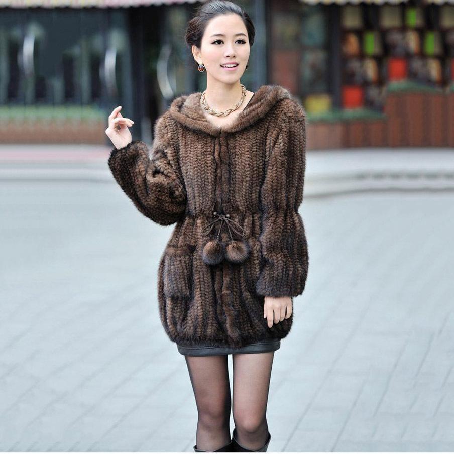 Mink Knit Sweater Coat 64