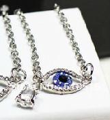 Zelda Majora Mask Blue Evil Eye Pendant Necklace<br><br>Aliexpress