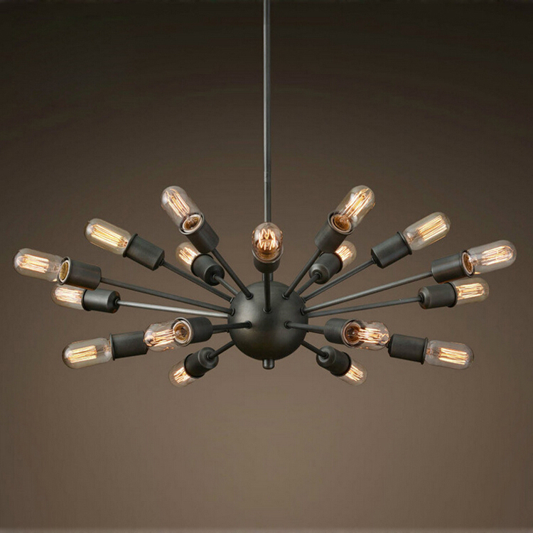 Chandeliers Black Wrought Iron Lighting Vintage Metal Large Antique  Chandelier for Home Lighting Indoor Decor with