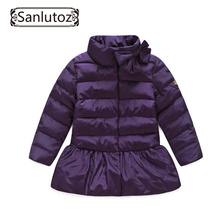 Children Jackets Girls Outerwear Coats Brand Down Trench Coat Winter Suits Girls Windbreaker Child Snowsuits Kids Clothes