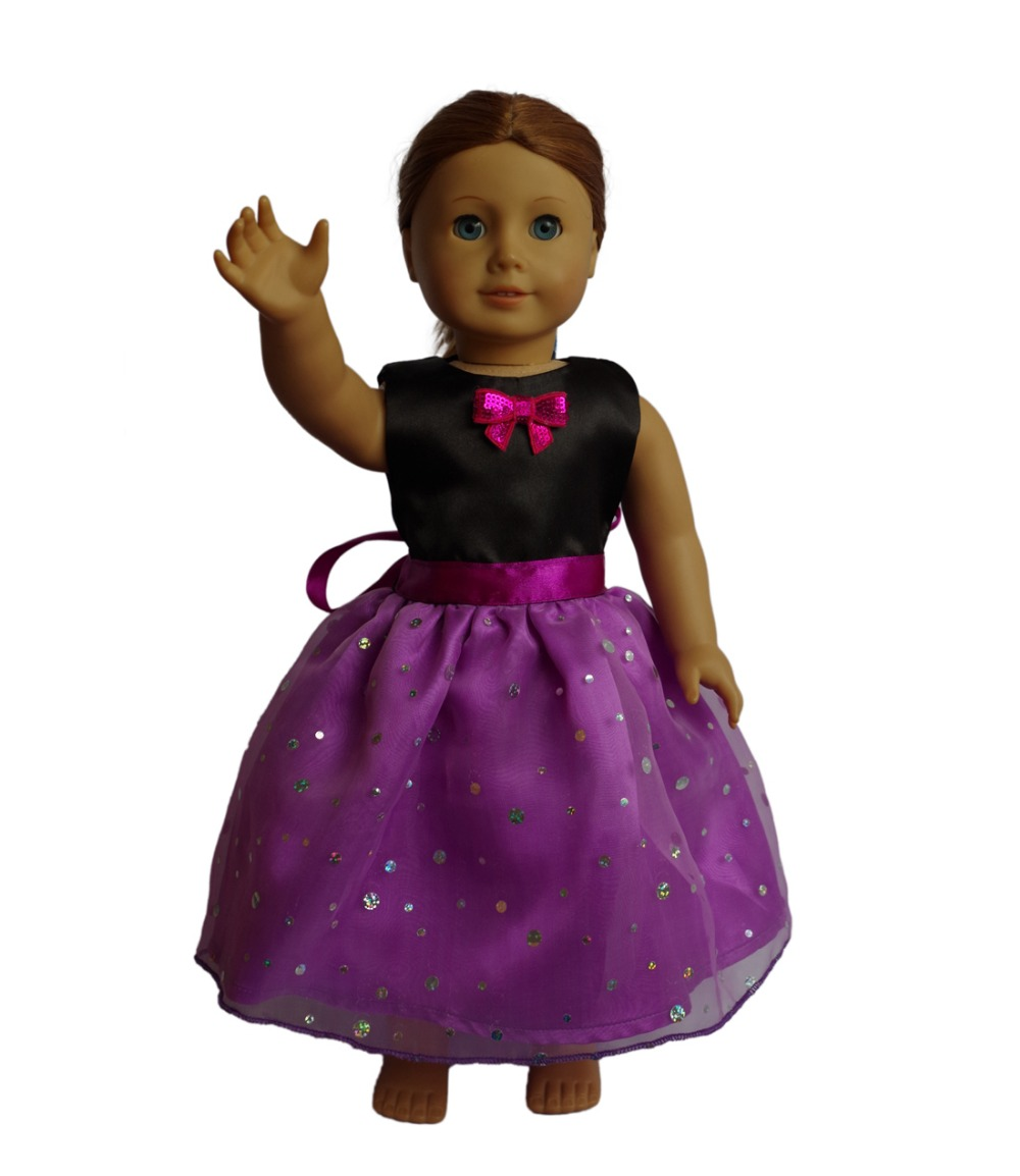2016 new doll clothes fits 18 girl doll american black