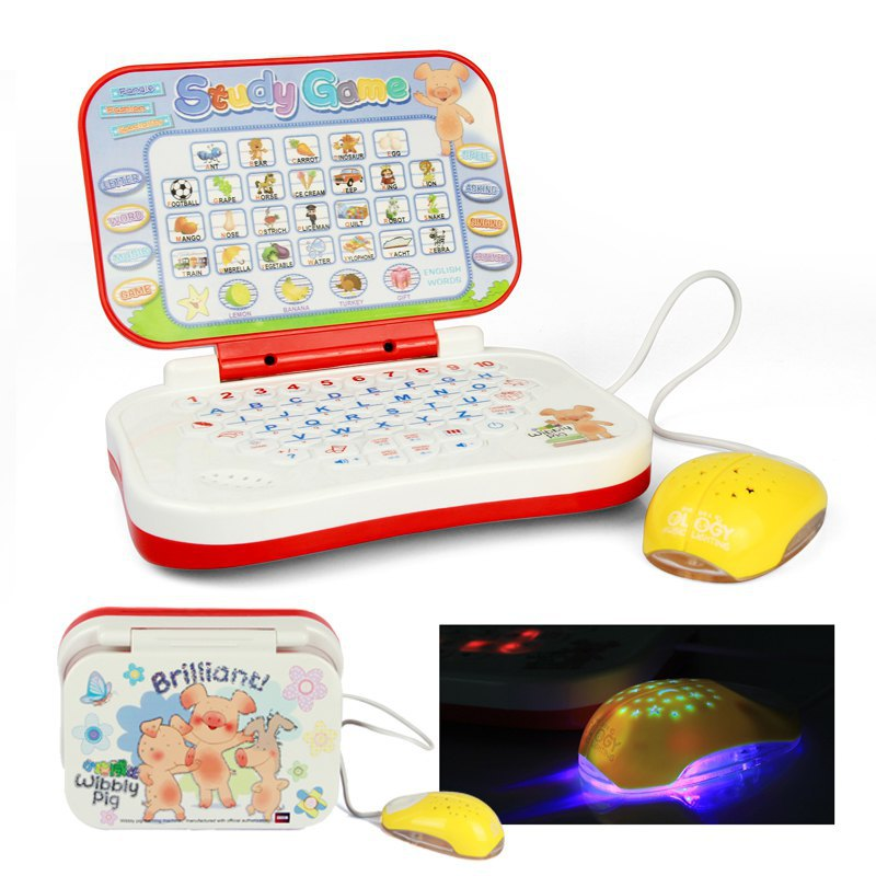 Learning Laptop With Shining Mouse Musical Children Tablet Computer Educational Juguetes Educativos Kid Game Pad Learning Laptop(China (Mainland))